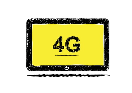 tabletpc: Tablet computer with 4G sketch design