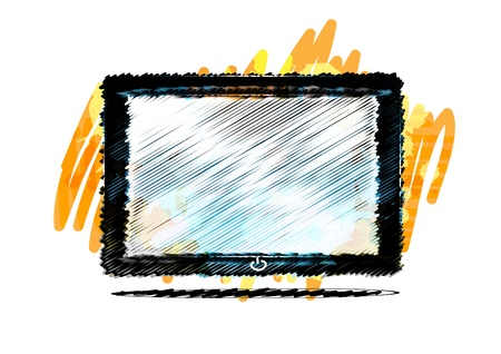 Tablet computer paint style Stock Photo - 15641766