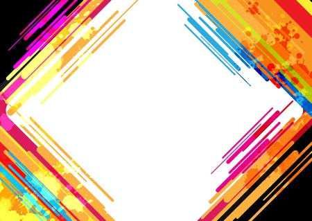 rainbow stripe: abstract colorful frame design Illustration