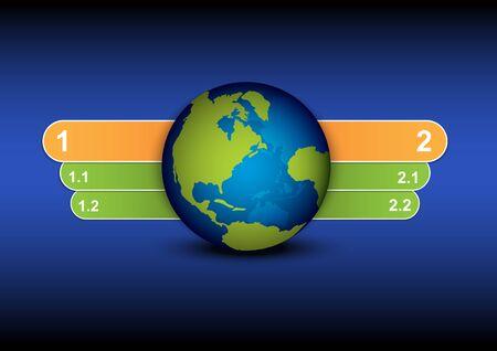 globe and menu tab design Stock Vector - 15810940