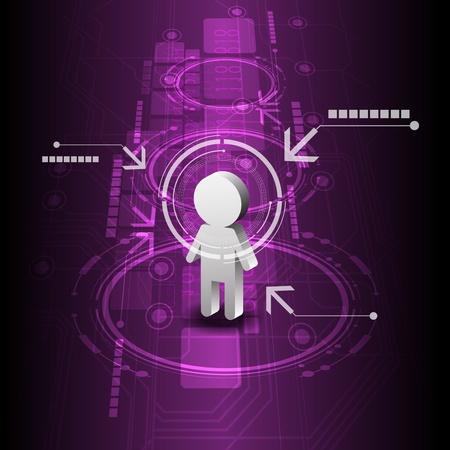 human digital future technology background Stock Vector - 16220020