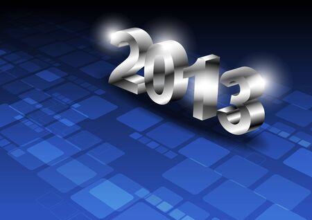 metallic 2013 design on technology background Stock Vector - 16220009