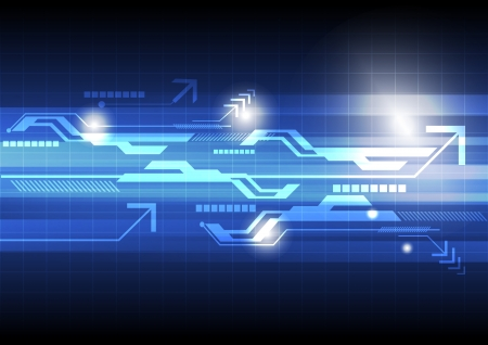 digital: abstract technology concept background Illustration