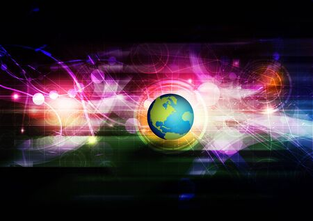 abstract global connection background photo