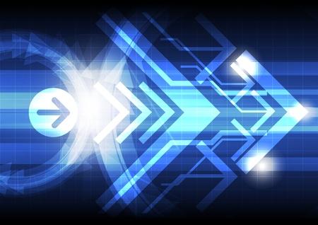 telecoms: astratto freccia sfondo di progettazione Vettoriali
