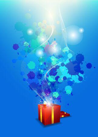 surprise box: artistic anniversary celebration Illustration