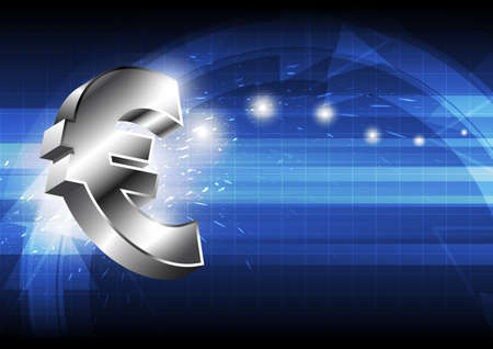 concpet: euro money icon : business concpet