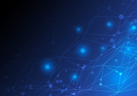 抽象的なネットワーク コンセプト デザイン