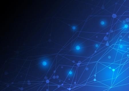 fibra ottica: astratto rete concept design Vettoriali