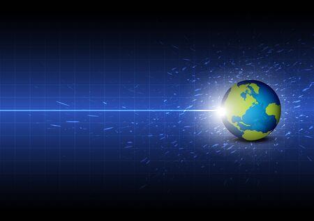 toekomstige digitale wereldwijde technologie achtergrond