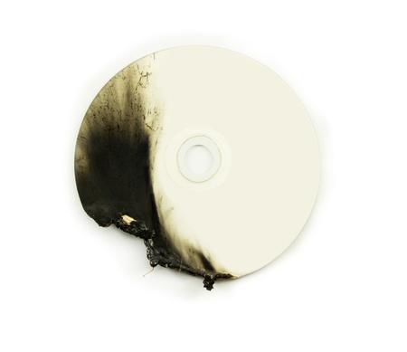 dvd disk damage Stock Photo - 17093581