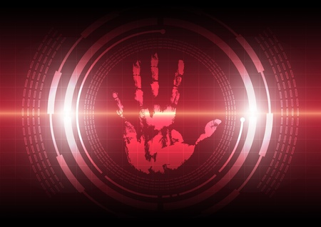 scan handprint technology Illustration