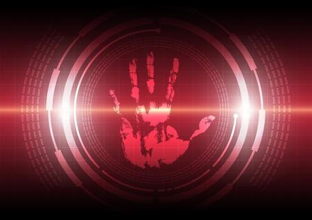 scan handprint technology Stock Vector - 17094332