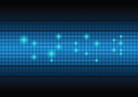 디지털: 디지털 네트워크 기술 배경 일러스트
