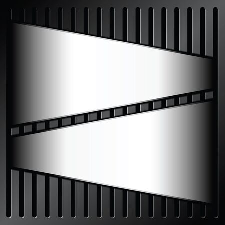 grille: metallic label on grille background