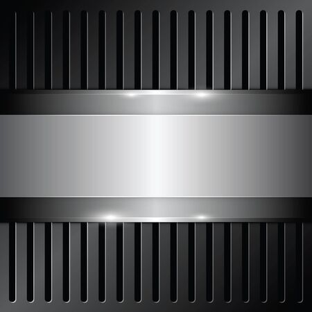 grille: shiny metallic on grille background