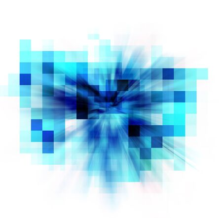 abstract blue pixel background Stock Photo - 17743343