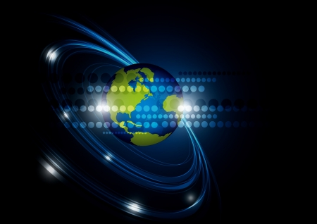 global network technology background Stock Photo - 17743492