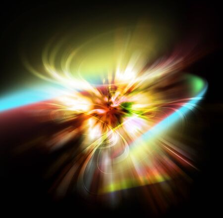 light burst: light aura abstract