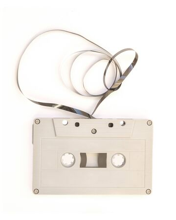 cassette tape: tape cassette on white background