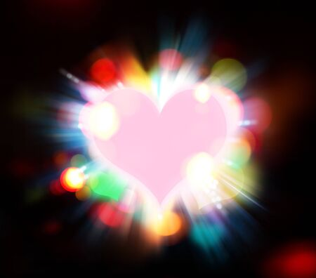 abstract heart background Stock Photo - 17743500