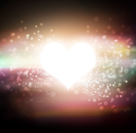 glowing heart star in the sky Stock Photo - 17743442