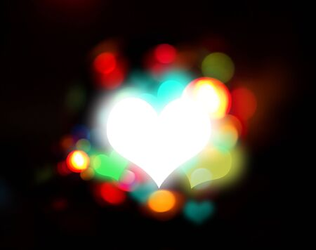 heart and fantasy light Stock Photo - 17743510