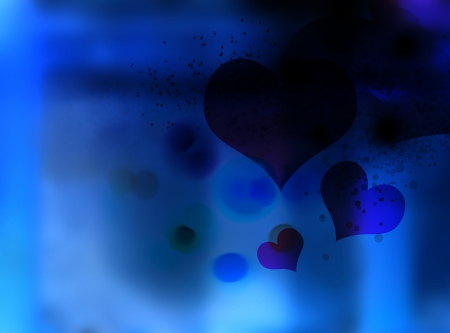 subconsciousness: heart fall down into the darkness