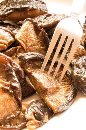 shiitake: fried shiitake mushrooms