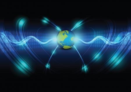 telecoms: global telecoms concept background Illustration