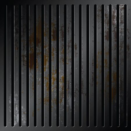 grille: grille metallic with rusty Illustration