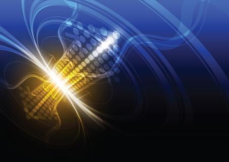 telecoms: arrow connection concept background
