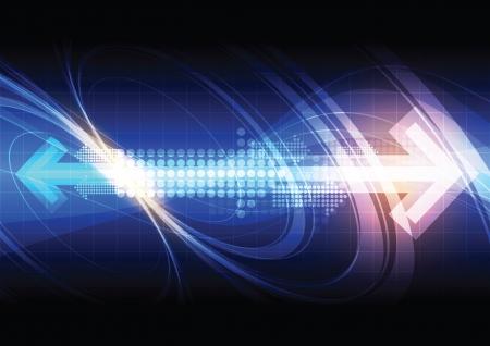 fibra ottica: freccia con tecnologia sfondo