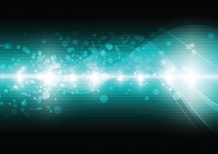 green digital wave background Stock Vector - 17886911
