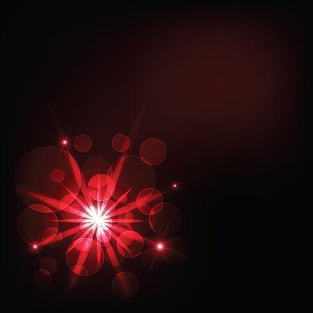 espejismo: luz de color rojo oscuro y el fondo bokeh