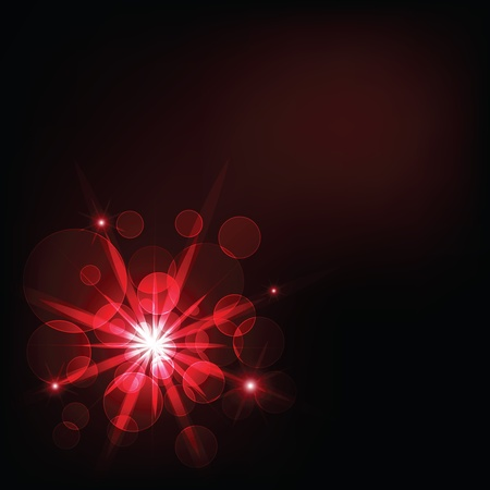 red dark light and bokeh background Illustration