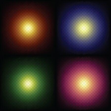 espejismo: punto de luz en relieve conjunto de antecedentes