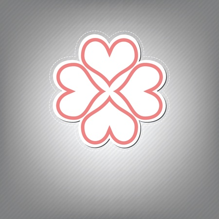heart flower symbol design Vector