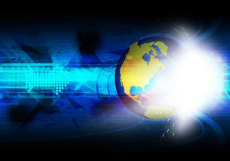 global communication technology background Stock Photo - 18463987