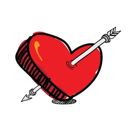 pierced: arrow pierced the heart