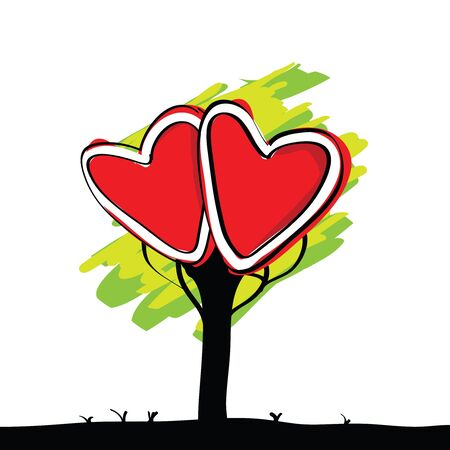 passion ecology: handwriting of kid painted heart tree