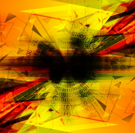 clash: abstract digital technology background