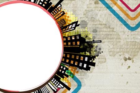abstract urban circle design Stock Photo - 20038619
