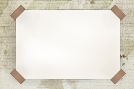 blank white paper on old paper photo