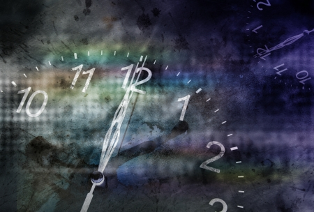 twelve o'clock with horror background