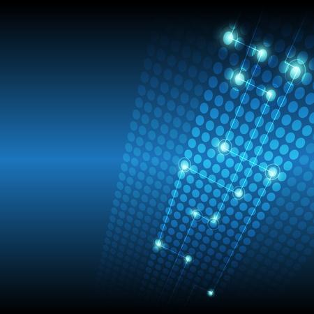 telecoms: rete digitale di tecnologia sfondo