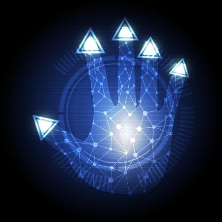 triangle button: bot�n tri�ngulo prensa de la mano