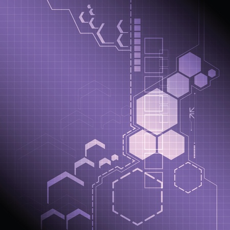 technology: 추상 기술 배경 디자인