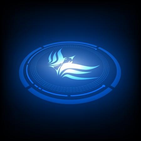 war bird: bird emblem design