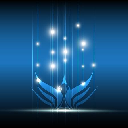 vogel symbolisch ontwerp: vrijheid concept Stock Illustratie